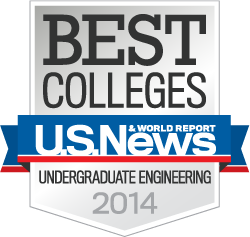 Rose-Hulman named 2014 Best College in Undergraduate Engineering